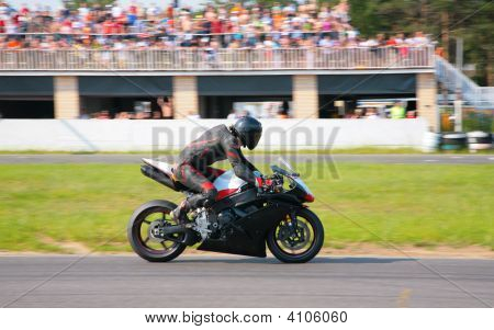 Moscow - June 22: Biker On Route On The Second Stage Of The Championship Of Russia June 22 2008 In A