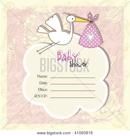 Baby-Dusche-Karte mit textfreiraum