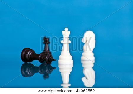 Checkmate - white defeats black