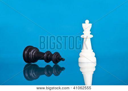 Checkmate - white defeats black