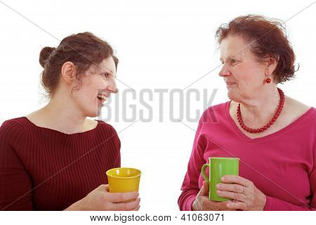 Mother and Daughter Coffee Chat