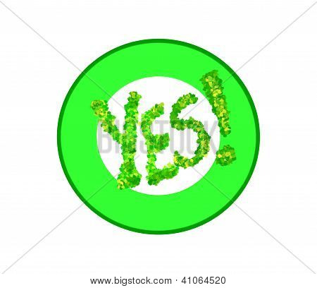 Green Yes Symbol