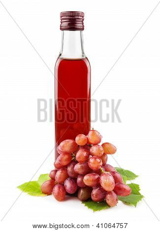 Glass Bottle Of Wine Vinegar