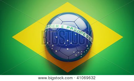 Brazilian Flag Soccer Ball