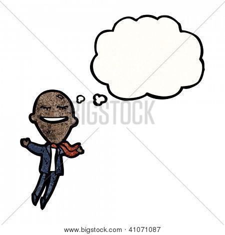 cartoon balloon head businessman