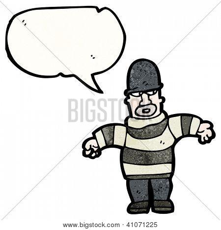 cartoon burglar