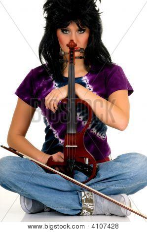 Intérprete de la música, violinista