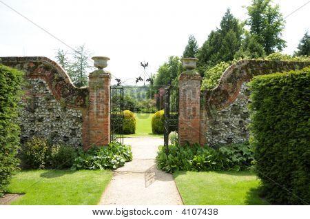 Gate To Garden Of Polesden Lacey Estate, Surrey, Uk
