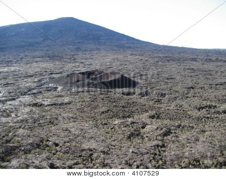 Formica Leo And Fournaise Volcanoes In Reunion Island