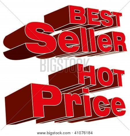 best seller and hot price logo vector
