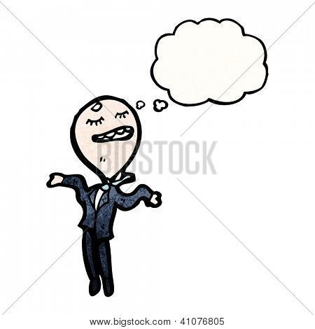 cartoon big head businessman