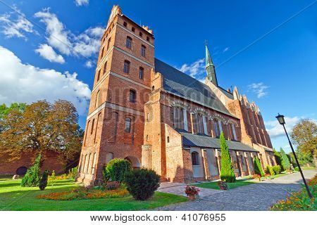 Medieval Fara Church in Swiecie, Poland