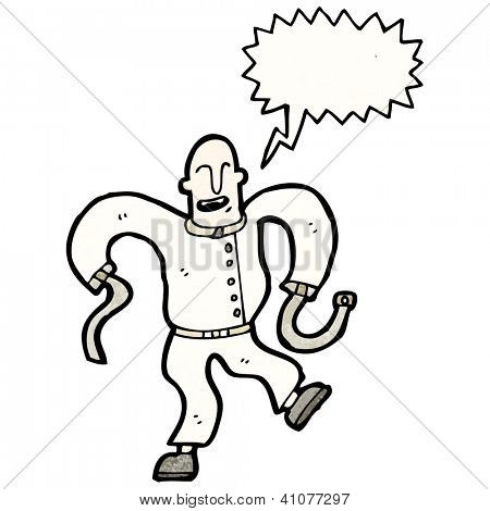 cartoon man in straight jacket