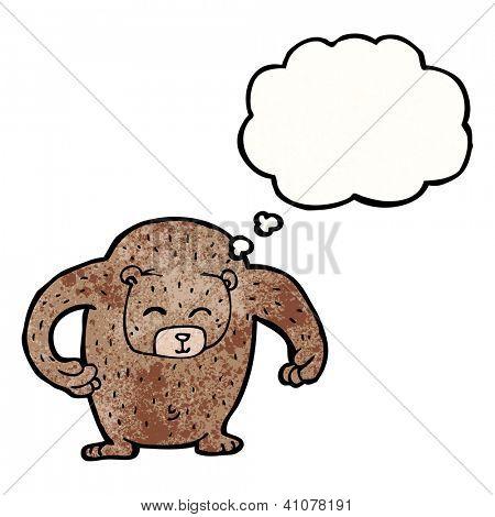 cartoon big friendly bear