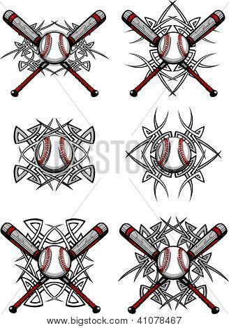 Baseball Softball Tribal Graphic Images