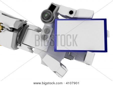 Slim Robot Arm, Blue Sign