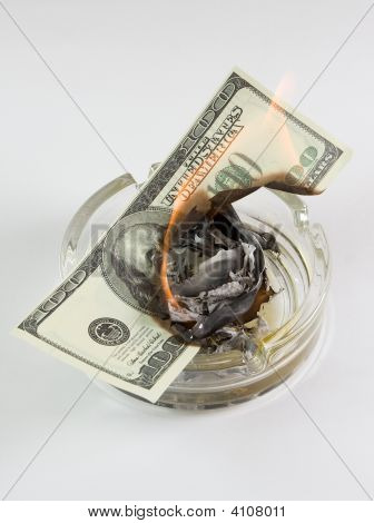 Money In An Ashtray Burns