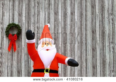 Christmas Wreath and Santa Clause