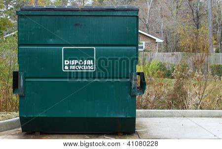 disposal and recycling dumpster