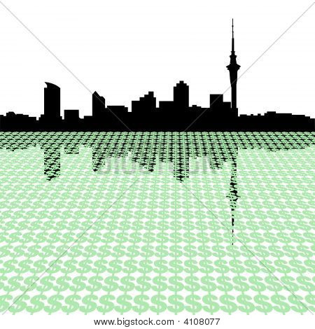 Auckland Skyline mit US-Dollar