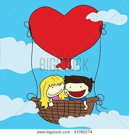 Happy Children Couple