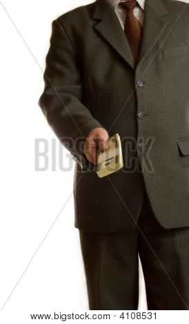 Businessman Gives Money