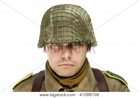 Close Up Portrait Of Soldier