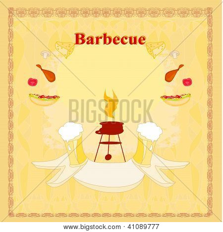 Vintage  Barbecue Party Invitation