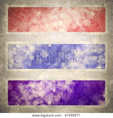 Computer Designed Highly Detailed Red, Blue, And Purple Grunge Border Frame With Vintage Texture