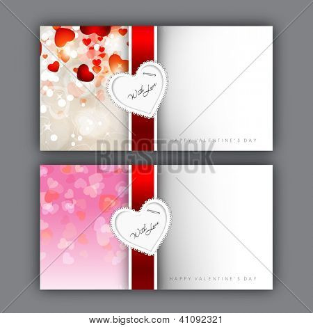 Valentine's Day love card or greeting card. EPS 10.