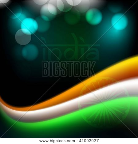Indian flag color creative wave background. EPS 10.