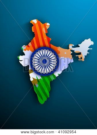 India map in National Flag colors.. EPS 10.