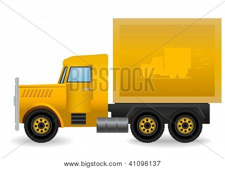 Vector Illustration The Yellow Truck.
