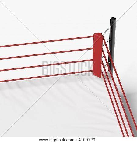 Corner of the boxing ring
