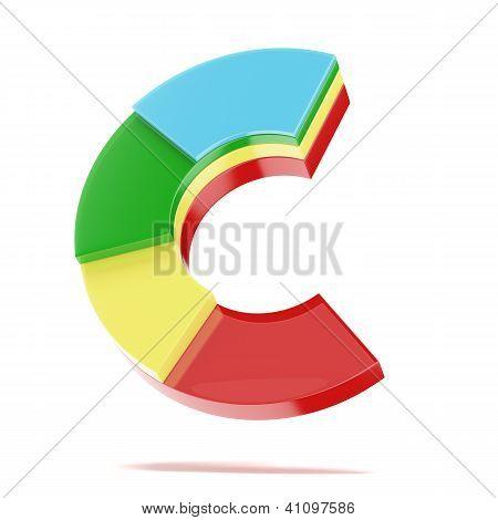 Multicolor segmented graph