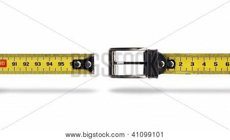 Weight Loss Measure Belt Gap