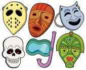 Постер, плакат: Различные маски коллекции