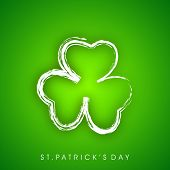 Irish four leaf lucky clovers background for Happy St. Patrick's Day. EPS 10.