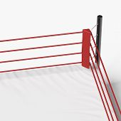 image of boxing ring  - corner of the boxing ring isolated on a white background - JPG