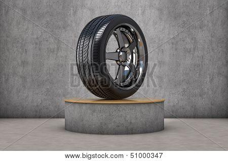 Tire exhibitor