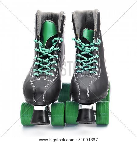 a pair of roller skates on a white background