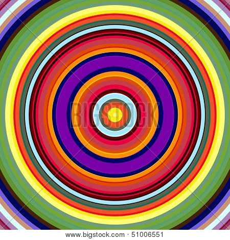 Vibrant bold color circles pattern illustration.