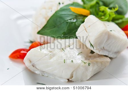 Halibut With  Rice