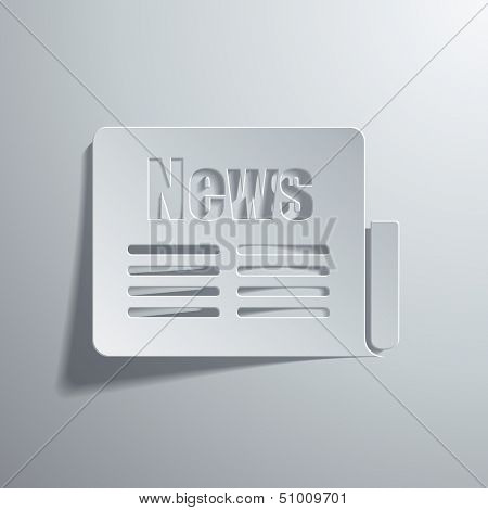 vector illustration of icons on a news topic