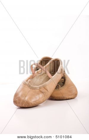 Childs Ballet Shoes Worn And Well Used