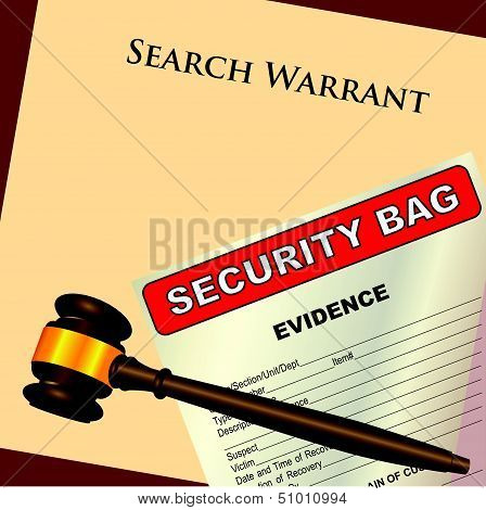 Search Warrant And Evidence