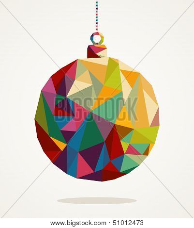 Merry Christmas Circle Bauble With Triangle Composition Eps10 File.