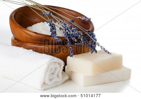 Products For Bath, Spa, Wellness And Hygiene, Isolated