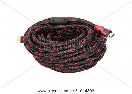 Hdmi Cable Isolated On White