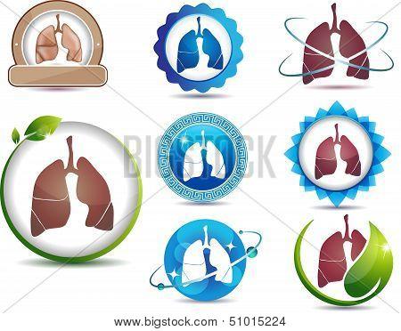 Lungs symbol set